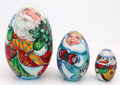 Santa - 3 Piece Egg | Matryoshka / Nevalashka Doll