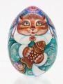 Snow Maiden - Cat - Christmas Egg Ornament
