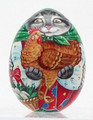 Cat with Chicken - Christmas Ornament