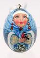 Snegurochka Lacquered Egg Christmas Ornament