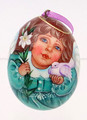 Baby Angel with Dove - Christmas Egg Ornament