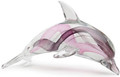 Hand Blown Glass Dolphin, Purple with Glow in The Dark Effect
