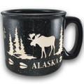 Etched Moose Speckled Camp Mug | Alaska Souvenirs