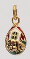 Red and Gold House Pendant | Faberge Style Egg Pendants