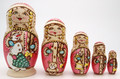 Snow Maiden with Snowman - Pink | Traditional Matryoshka Nesting Doll