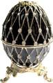"Egg ""Net"" - Black   Faberge Style Egg"
