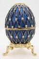"Egg ""Net"" - Dark Blue small   Faberge Style Egg"