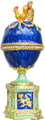 """Egg """"Chauntecleer"""" with Rooster Dark Blue color 