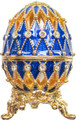 """Egg """"Net"""" - Blue small   Faberge Style Egg"""