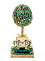 Bay Tree Faberge Style Egg  - Small Green