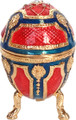 Faberge Style Egg - Small Red/Dark Blue | Faberge Style Egg