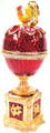 """Egg """"Chauntecleer"""" with Rooster Red color 