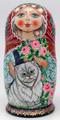 Fluffy Cat by Galina Ivanova | Unique Museum Quality Matryoshka Doll