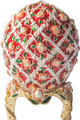 Egg with Roses - Red   Faberge Style Egg