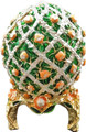 Egg with Roses - Green | Faberge Style Egg
