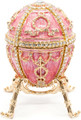 Rosebud Egg with Surprise - Pink | Faberge Style Egg
