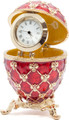 """Egg """"Coronation"""" with a Clock - Red color 