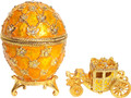 Imperial Coronation Faberge Style Egg - Gold Color