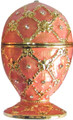 """Egg """"Grid-Rhombus"""" with Rhinestones - Color Pink 