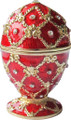 """Egg """"Grid-Rhombus"""" with Rhinestones - Color Red 