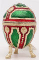 Faberge Style Egg - Small Red/Green | Faberge Style Egg