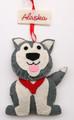 Felt Husky Christmas Ornament