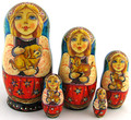 Maiden with Puppies | Fine Art Matryoshka Nesting Doll