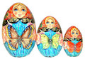 Butterflies 3 Piece Egg | Traditional Matryoshka Nesting Doll