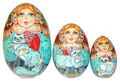 Cats 3 Piece Egg   Traditional Matryoshka Nesting Doll