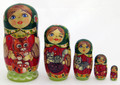 Maiden with Cats | Fine Art Matryoshka Nesting Doll