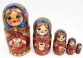 Cat's Family | Fine Art Matryoshka Nesting Doll