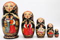 Village Scenes 5 Piece | Fine Art Matryoshka Nesting Doll