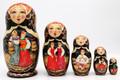 Village Scenes 5 Piece | Fine Art Matryoshka Nesting Doll