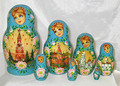 Blue Matryoshka with Kremlin