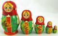 Girl in Green Sarafan | Traditional Matryoshka Nesting Doll