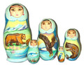 Summer Bear | Alaska Theme Matryoshka Nesting Doll
