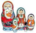 Alaskan Santa | Alaska Theme Matryoshka Nesting Doll