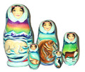 Winter Bear | Alaska Theme Matryoshka Nesting Doll