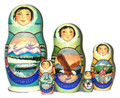 Inside Passage | Alaska Theme Matryoshka Nesting Doll
