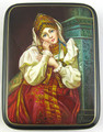 By the Fireplace | Russian Lacquer Box