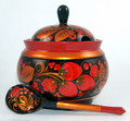 Since each sugar bowl is handcrafted and handpainted there will be some slight variation in shape and pattern detail.