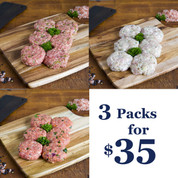 Rissoles: BULK BUY SPECIAL 3 Packs for $35.00