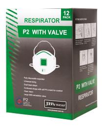 8C150 - JB'S P2 RESPIRATOR WITH VALVE BOX OF 12