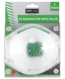 8C15 JB'S BLISTER (3PC) P2 RESPIRATOR WITH VALVE