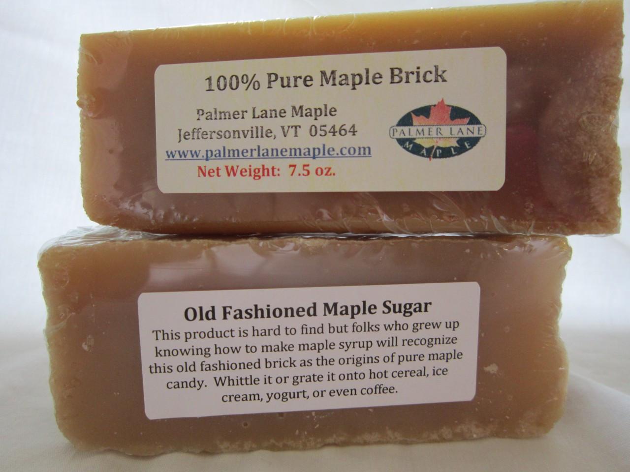 eea8440c274 Maple Sugar Candy - 7.5 oz. Pure Maple Brick - Palmer Lane Maple LLC