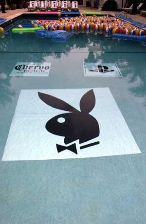 Custom pool mats pool art swimming pool art aqua art - Playboy swimming pool ...