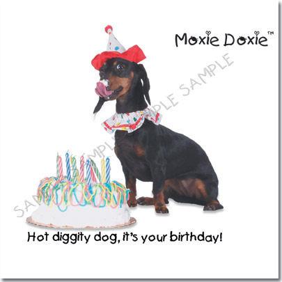 Dachshund Birthday Card Image 1 Loading Zoom