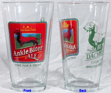 III Dachshunds Pint Glass Ankle Biter Ale Dachshund 1st in Series