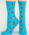 Haute Dog Whimsy AQUA BLUE Lagoon Dachshund Socks