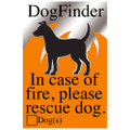 Rescue My Dog Silver Window Sticker